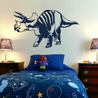 Triceratops Dinosaur Wall Transfers / Removable Vinyl Decal / Wall Stickers Di2
