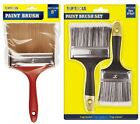 "2 Pack of Top Quality 3"" & 4"" Paint Brushes,5"" Paint Brush Decorate Emulsion"