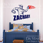 Baseball Pitcher Player Wall Room Custom Name Vinyl Wall Decal Sticker