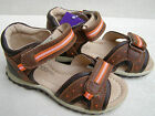 BOYS NAVY BROWN GREEN VELCRO LEATHER LINED SANDALS SUMMER SHOES SIZES UK11 12 13