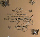 Marilyn Monroe Wall Art Removable Vinyl Decal Stick Life Breath Quote Lettering