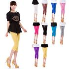 Fashion Simple Candy Color Cropped Modal Short 3/4 Length Leggings Tights Pants