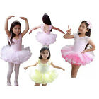 Girls New Leotard Ballet Tutu Dance Party Dress 3-8Y Kids Skate Skirt Pink/Blue