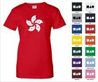 Hong Kong Flag Orchid Tree Flower Plant Symbol Icon Funny Woman's T-shirt