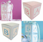 Baby Shower Favour Boxes x 10 Pink Blue Girl Boy Party Supplies