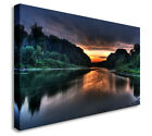 Sunset On The River 40x20inches Wall Picture Canvas Art Cheap Print
