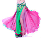NEW Belly Dance Costume Skirt 2 layers with 2 side slits Skirt Dress 10 colors