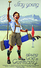 Stay Young Playing Golf in Germany Railway vintage poster - repro