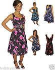 LADIES WOMANS SUMMER PARTY BEST EVENING BRIDESMAID HOLIDAY DRESS SIZE 8-26 UK