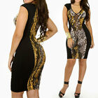 LADIES New Old Fashion4 Innovative Dress Cheetah Snake Animal Print Bodycon