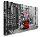 London Bus Stop Inner City Red Bus Wall Picture Canvas Art Cheap Print