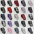New Mens Slim Skinny Black White Red  Purple Neck Tie Wedding Tie Gift Ties