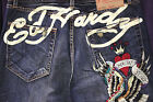 NEW MEN AUTHENTIC ED HARDY JEANS SIZE 36,  42 & 44