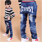 New Size 2-7Y Casual Boys Pants Kids Fashion Printing Letters Jeans PB078