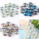 10pcs/50pcs Pretty Glass Crystal Spacer Beads Crystal Loose Gem Beads Shine NEW