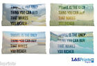 """TRAVEL MAKES YOU RICHER  QUOTE SMALL CUSHION CAR TRAVEL ACCESSORY 11"""" X 9"""""""