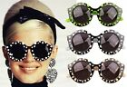 Vintage Retro Classic Polka Dots Frames Oversized Round Circle Sunglasses Shades