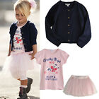 New Baby Girl Lovely Short Top+ Pants 2 Pcs Set Size 0-3Y Clothes Outfit  BA021