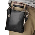 Men's Genuine Leather Shoulder Messenger Satchel Day Fanny Waist Pack Bag Tote