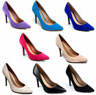 WOMENS LADIES SMART LOW MID HIGH KITTEN HEEL POINTED TOE WORK OFFICE COURT SHOES