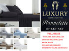 50cm Wall Egyptian Cotton Flannel / Flannelette Sheet Set For Queen & King Bed