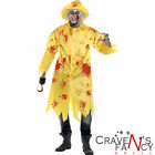 Mens Zombie Halloween Costume Fisherman Sou'Wester Adult Fancy Dress Outfit New