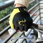 Yellow Cycling Bicycle Antiskid Wearable Sports Half Finger Gloves size M/L/XL