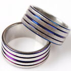 10/50pcs Rhodium Plated Five Blue Lines Circles Charms Alloy Metal Jewelry Rings