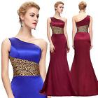 2015 Blue Red Long Bridesmaid Evening Formal Party Ball Gown Prom Wedding Dress