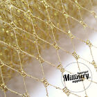 """Metallic SILVER or GOLD 9"""" Wide Millinery Hat Veiling Netting Trim"""