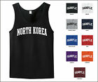 Country of North Korea College Letter Tank Top Jersey T-shirt