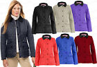 Women's Ladies New Quilted Padded Zip Button Plus Size Jacket Coat Top Size 8-20
