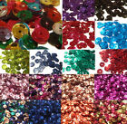60g / 5100 OR 10g / 850 ROUND CUP SHAPE FLAT HOLOGRAPHIC PEARLESCENT 6MM SEQUINS