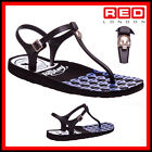 WOMENS LADIES REPLAY FLAT GLADIATOR SKULL SUMMER JELLY BEACH SANDLES SIZ 3 4 5 6