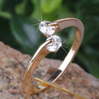 2 x 0.3ct CREATED Brilliant Diamond 18k GP Ring* 0390* choose your ring size