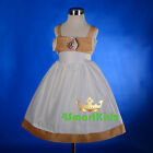 Rhinestone Satin Formal Dress Wedding Christening Party Baby Size 00 0 1 2 3 226