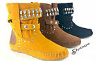 NEW Womens Stylish Shoes Ankle Boots Flat Casual Strap Cute Round Toe Comfort