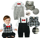 Baby Boy Pageant Suit Toddlers Tuxedo Set (Christening Wedding Party Formal)3-24