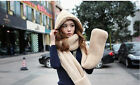 Warm Winter Fluffy Oversized Beanie Hat Scarf Gloves in ONE Piece 4 Colors