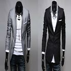 1x Trendy Korean Men's Slim Dress Fit Suit Blazer Casual Coats Jackets 2 Colors