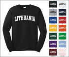 Country of Lithuania College Letter Long Sleeve Jersey T-shirt