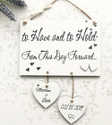 Personalised Wedding Plaque Wooden Anniversary Engagemnet  Love Sign W61