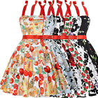 Vintage 50's Halter Dress Rockabilly Swing Pinup Retro Prom Party dress Cotton