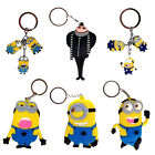 Despicable Me Key Chain Holder Ring Keyrings Minions Gru Rubber Metal 6 Options