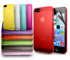 ULTRA THIN CRYSTAL CLEAR HARD CASE COVER FOR NEWiPHONE 5S & iPHONE 5 ACCESSORIES