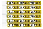 VIP Gold Wristbands for events, paper like made of Tyvek,Nightclubs, parties etc