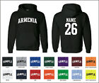 Country of Armenia Custom Personalized Name & Number Jersey Hooded Sweatshirt
