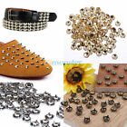 100 / 200Pcs Metal Pyramid Round Cone DIY Studs Leather Spots Rock Punk Spikes