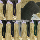 Women Vintage Cotton Twisted Pattern Stirrup Pantyhose Stockings Tights Leggings