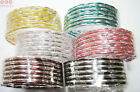 New Authentic Indian Jewellery. Hand-Made Bangles. Set Of 12. Multi-coloured.